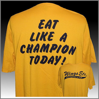 Eat Like A Champion Today T-Shirt